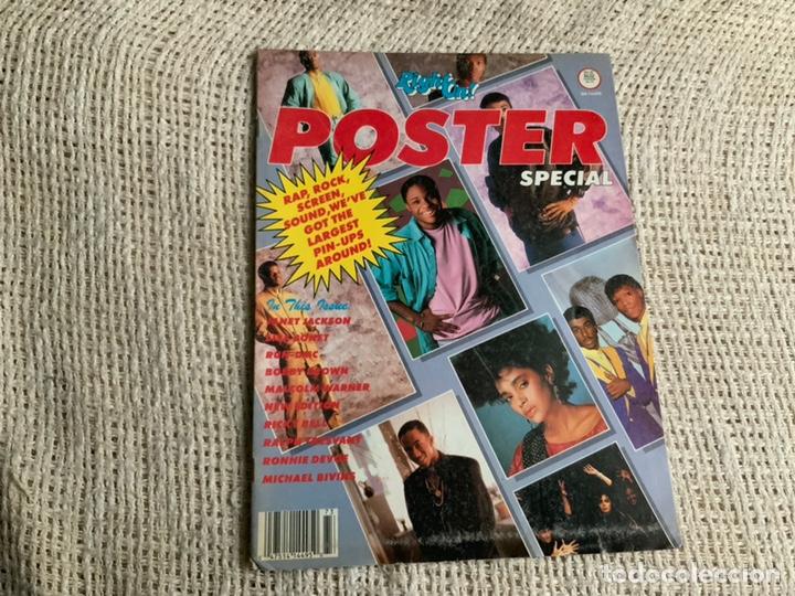 RIGHTON - POSTER SPECIAL , JANET JACKSON , LISA BONET , RUN DMC , MICHAEL BIVINS (Música - Revistas, Manuales y Cursos)