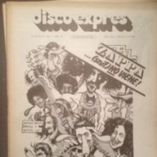 Revistas de música: DISCO EXPRES 366: FRANK ZAPPA, CEESEPE, LONE STAR, NEIL YOUNG, ZUMA, AQUELARRE ,LARRY CORYELL. Lote 180495853