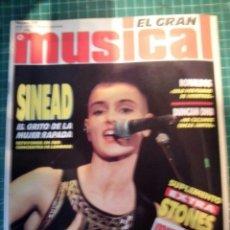 Revistas de música: EL GRAN MUSICAL Nº319 SINEAD RAMONCINMONTANA REFRESCOS DEPECHE MODE PRETENDERS RONALDOS SINIESTRO . Lote 180911556