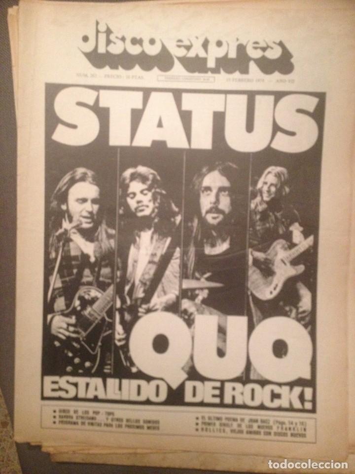 DISCO EXPRES 262: STATUS QUO, JOAN BAEZ, THE HOLLIES, BARBRA STREISAND, POP-TOPS,. (Música - Revistas, Manuales y Cursos)