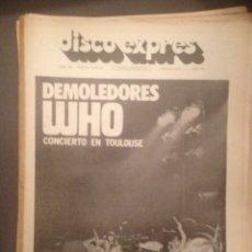 Revistas de música: DISCO EXPRES 264: WHO, BUEYES MADEREROS, GATO PEREZ.,RAMON FARRAN C.R.A.G,MCLAUGHLIN,G.LIGHTFOOT. Lote 180935888