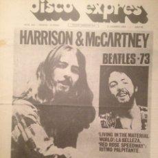 Revistas de música: DISCO EXPRES 238: BEATLES,GEORGE HARRISON,PAUL MCCARTNEY,MIGUEL RIOS,STEVIE WONDER BYRDS. Lote 181008355