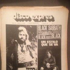 Revistas de música: DISCO EXPRES 163 : PERET, TEDDY BAUTISTA, MAQUINA!,ENRIC HERRERA,GUALBERTO,BLACK SABBATH,POCO. Lote 181010151