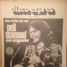 Revistas de música: DISCO EXPRES 302:NEIL DIAMOND,S.BROWN,IAN HUNTER,ONA LAIETANANA,CAPTAIN BEEFHEART,FUSIOON, LONE STAR. Lote 181011586