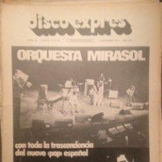 Revistas de música: DISCO EXPRES 303: ORQUESTA MIRASOL ,J.J.CALE,JORDI SABATES,MOBY GRAPE,ALICE COOPER,LOU REED. Lote 181011805