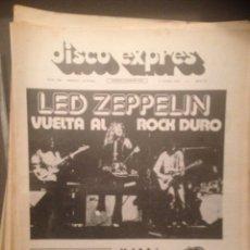 Revistas de música: DISCO EXPRES 226: LED ZEPPELIN,TAPIMAN,JUAN PARDO,LA TRINCA,MICK JAGGER,YES, HARRISON,PETER SINFIELD. Lote 181012860