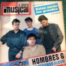 Revistas de música: EL GRAN MUSICAL Nº266 HOMBRES G CALIGARI BARRICADA CURE JACKSON GEORGE MICHAEL LOQUILLO SABINA RED. Lote 181317842