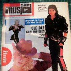 Riviste di musica: EL GRAN MUSICAL Nº283 MADONNA MICHAEL JACKSON BATIATTO SABRINA COPINI DUNCAN DHU OLE OLE RONALDOS. Lote 181327932