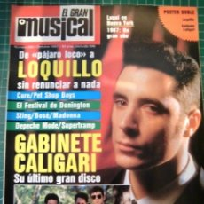 Revistas de música: EL GRAN MUSICAL Nº284LOQUILLO STING CALIGARI MCCARTNEY THE CURE DEPECHE MODE MADONNA SABRINA. Lote 181340840
