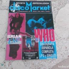 Revistas de música: REVISTA ESPECIALIZADA DISCO MARKET Nº 2,1986,BRIAN ENO,GABINETE CALIGARI, THE WHO, THE HOLLIES. Lote 181450137