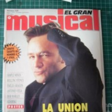 Revistas de música: EL GRAN MUSICAL Nº338 LA UNION ROLLING VEGA BOB MARLEY WHITNEY ROXETTE REM SAXON PUBLICIDAD. Lote 182157043