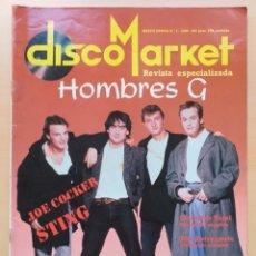 Revistas de música: DISCOMARKET NUM 3. HOMBRES G JOE COCKER STING SINIESTRO TOTAL ASTRONAUTS.. Lote 182173771