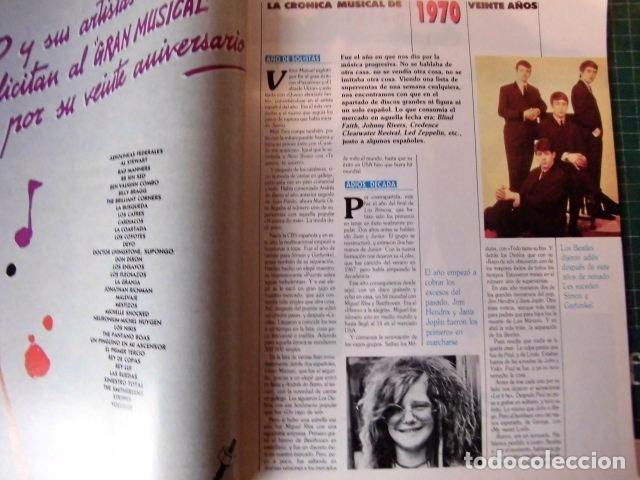 Revistas de música: EL GRAN MUSICAL ESPECIAL MONOGRAFICO EXITOS 20 AÑOS COMPLETO EXCELENTE ESTADO DE CONSERVACION - Foto 2 - 182261892