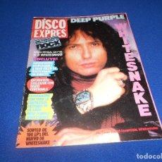 Revistas de música: WHITESNAKE ESPECIAL Nº 3 POSTER DESPLEGABLE DISCO EXPRES CON POSTER B.E.. Lote 182682295