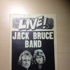 Revistas de música: JACK BRUCE BAND CON MICK TAYLOR - ERIC CLAPTON - THE ROLLING STONES. Lote 182735783