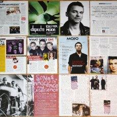 Revistas de música: DEPECHE MODE LOTE PRENSA UK CLIPPINGS PHOTOS MAGAZINE ARTICLES DAVE GRAHAN CUTTINGS. Lote 137490646