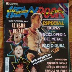 Revistas de música: REVISTA HEAVY ROCK Nº 162 (FEBRERO 1997) METALLICA, AC/DC, EXTREMODURO... SIN POSTERS. Lote 183084035