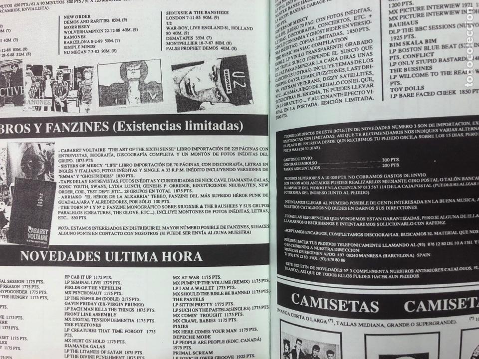 Revistas de música: MÚSICAS DE RÉGIMEN N° 3 (MANRESA 1987). HISTÓRICO FANZINE ORIGINAL; CATÁLOGO DISCOS PARA PEDIR - Foto 3 - 183090817