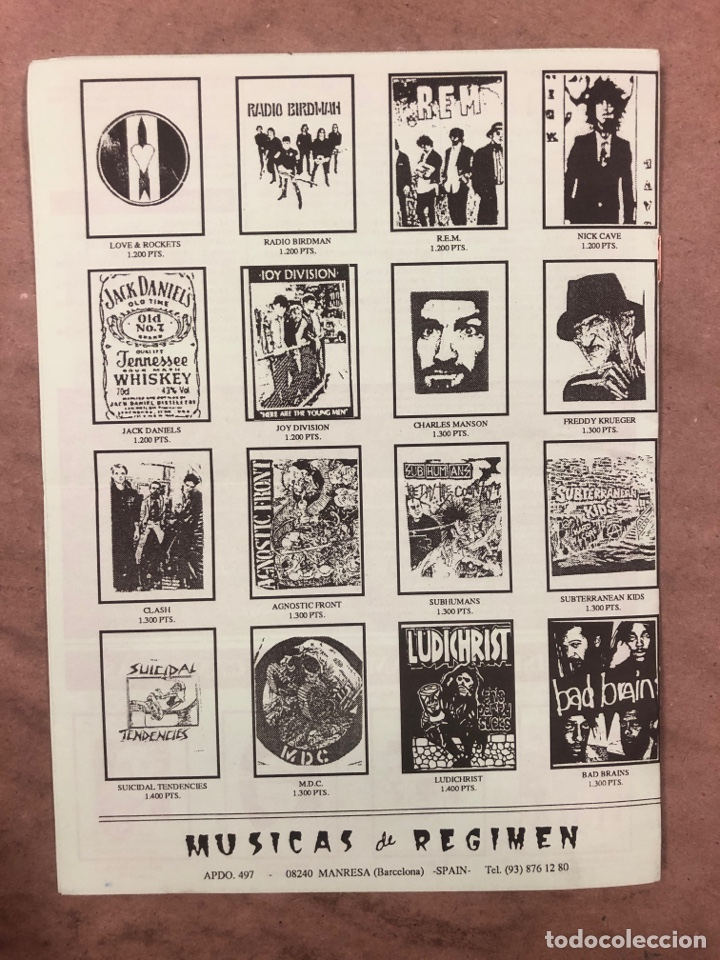 Revistas de música: MÚSICAS DE RÉGIMEN N° 3 (MANRESA 1987). HISTÓRICO FANZINE ORIGINAL; CATÁLOGO DISCOS PARA PEDIR - Foto 4 - 183090817
