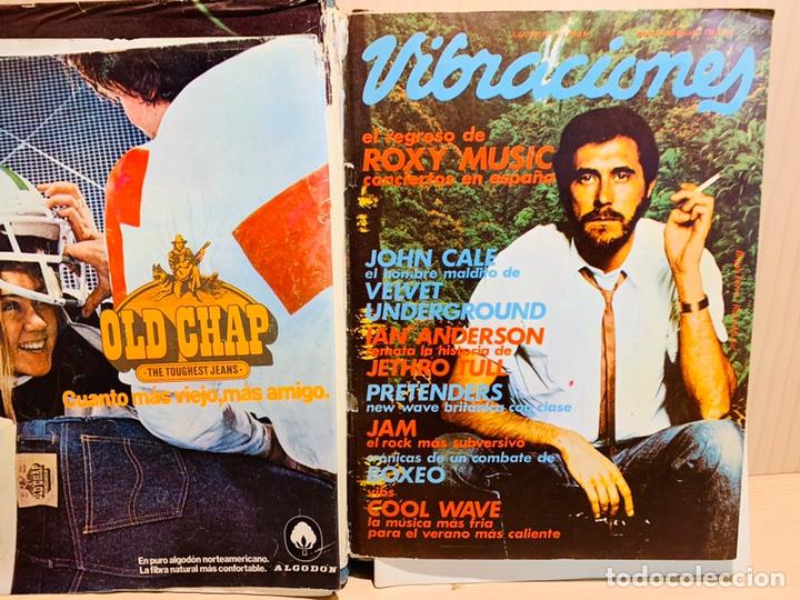 Revistas de música: LOTE DE NUEVE REVISTAS VIBRACIONES AÑO 1980 - Foto 3 - 183172117