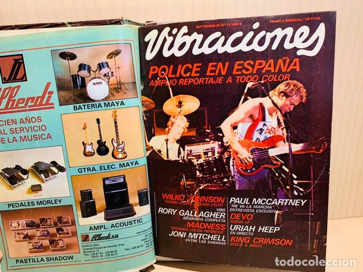 LOTE DE NUEVE REVISTAS VIBRACIONES AÑO 1980 (Música - Revistas, Manuales y Cursos)