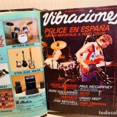 Revistas de música: LOTE DE NUEVE REVISTAS VIBRACIONES AÑO 1980. Lote 183172117
