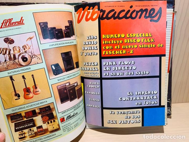 Revistas de música: LOTE DE NUEVE REVISTAS VIBRACIONES AÑO 1980 - Foto 5 - 183172117