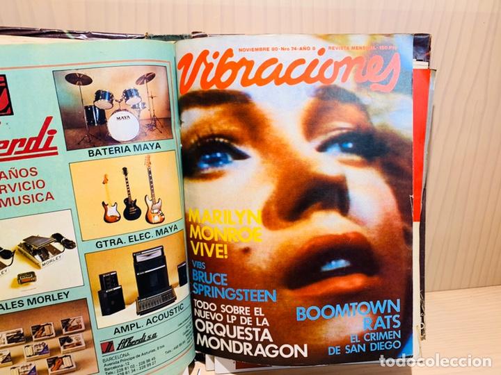 Revistas de música: LOTE DE NUEVE REVISTAS VIBRACIONES AÑO 1980 - Foto 7 - 183172117