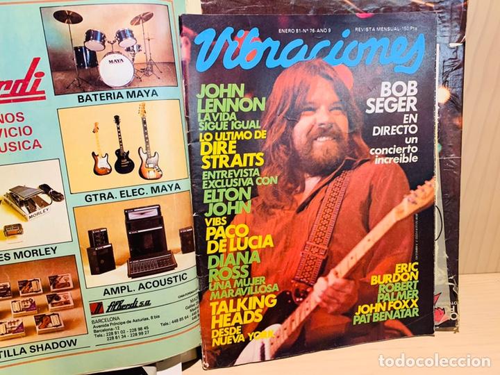 Revistas de música: LOTE DE NUEVE REVISTAS VIBRACIONES AÑO 1980 - Foto 10 - 183172117
