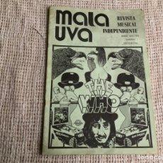 Revistas de música: MALA UVA Nº 3 REVISTA MUSICAL INDEPENDIENTE (1978) THE WHO, COLOSSEUM, THE EAGLES. Lote 183314081