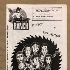 Revistas de música: CHICKEN RANCH N° ESPECIAL PRENSA. HISTÓRICO FANZINE ORIGINAL SOBRE DINAMITA PA LOS POLLOS. Lote 183591055