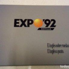 Revistas de música: CURSO DE INGLÉS PARA TAXISTAS, OFICIAL EXPO 92 SEVILLA (RARÍSIMO). Lote 183621251