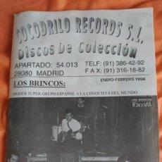 Revistas de música: CATALOGO COCODRILO RECORDS S.L. ENERO FEBRERO 1998. Lote 183677315