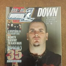 Magazines de musique: POPULAR 1 Nº 415 - DOWN, HELLACOPTERS, THE BLACK CROWES, NAZARETH... -. Lote 184123985