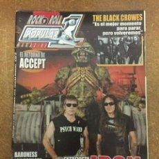 Magazines de musique: POPULAR 1 Nº 443 - IRON MAIDEN, THE BLACK CROWES, ACCEPT, BARONES... -. Lote 184123990