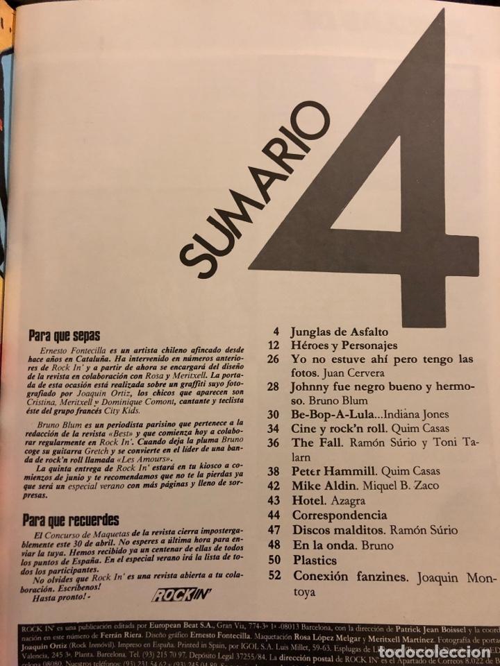 Revistas de música: ROCK IN' N° 3 (ABRIL MAYO 1985). NOTICIAS MOVIDA, THE FALL, ROCK & ROLL, ACOLLA, NOH, LA DAMA SE ESC - Foto 2 - 184145313