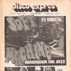 Revistas de música: DISCO EXPRES 209 : BEATLES, SOFT MACHINE,FUSIOON,FLEETWOOD MACK,BEN THOMAS,CHRIS MONTEZ,BETTE MIDLER. Lote 184351857