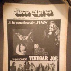 Revistas de música: DISCO EXPRES 210: JANIS JOPLIN,VINEGAR JOE,OVIDI MONTLLOR.ERIC CLAPTON,FELICIANO,FIELDS,SANTABARBARA. Lote 184375932