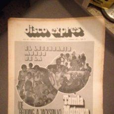 Revistas de música: DISCO EXPRES 212: TAMLA MOTOWN,OSIBISA,TIR NA NOG,ROLLING STONES,PABLO GUERRERO,SANDY DENNYL,. Lote 184528748