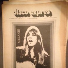 Revistas de música: DISCO EXPRES 111: MELANIES,PETE SEEGER EN ESPAÑA,SMASH, MOCEDADES ALLMAN BROTHERS, M MAR BONET MAGMA. Lote 184557885