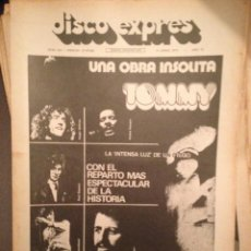 Revistas de música: DISCO EXPRES 219: WHO, EMERSON LAKE AND PALMER, TOMMY, BEATLES, WINGS,SOLERA GEORDIE,DAVID CASSIDY. Lote 184561735