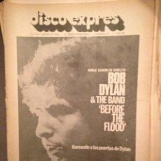 Revistas de música: DISCO EXPRES 286 BOB DYLAN,CASS ELLIOT, MILES DAVIS,MCLAUGHLIN, ALLMAN BROTHERS,RICK WAKEMAN,. Lote 184562882