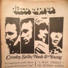 Revistas de música: DISCO EXPRES 130: GUALBERTO,CROSBY S.N.Y,JIM REEVES,VICTOR MANUEL,HENDRIX,JOE COCKER. Lote 184621118