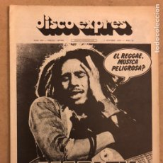 Revistas de música: DISCO EXPRES N° 394 (OCTUBRE 1976). BOB MARLEY, KING CRIMSON, JEFF BECKHAM, GROUNDHOGS,.... Lote 185433822