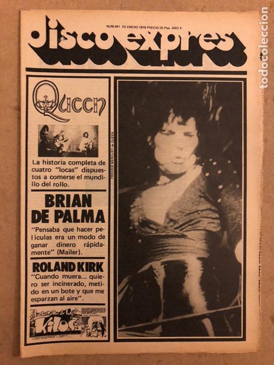 DISCO EXPRES N° 461 (ENERO 1978). QUEEN, BRIAN DE PALMA, ROLAND KIRK,... (Música - Revistas, Manuales y Cursos)