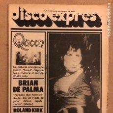 Revistas de música: DISCO EXPRES N° 461 (ENERO 1978). QUEEN, BRIAN DE PALMA, ROLAND KIRK,.... Lote 185545416