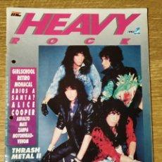 Revistas de música: REVISTA HEAVY ROCK Nº52 (DICIEMBRE 1987): KISS, ALICE COOPER, MOTORHEAD... SIN POSTERS. Lote 185692746