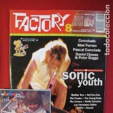 Revistas de música: REVISTA FACTORY Nº 8 SONIC YOUTH, CORCOBADO, ABEL FERRARA, DANIEL CLOWES, PETER BAGGE. Lote 187185782