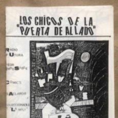 Revistas de música: LOS CHICOS DE LA PUERTA DE AL LADO N° 2 (BCN, 1985). HISTÓRICO FANZINE ORIGINAL, RADIO FUTURA, PEOR. Lote 147571470