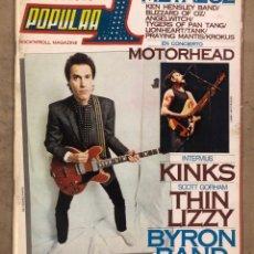 Revistas de música: POPULAR 1 N° 104 (FEBRERO '82). CON POSTER DE MOTORHEAD, THE KINKS, PRETENDERS, POLICE,.... Lote 175145027